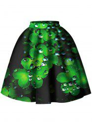 Leaf Pattern A Line Skirt -