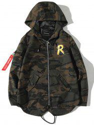 Veste Camouflage Graphique Fishtail au Dos -