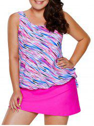 Plus Size Modest Tankini Top and Skirt -
