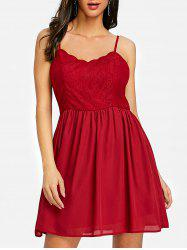 Backless Cami Mini Skater Dress -