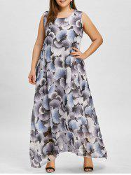 Lined Plus Size Maxi Chiffon Dress -
