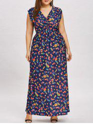 Flower Plus  Size Empire Waist Long Dress -