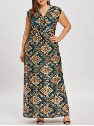 Causal Plus Size Empire Waist Long Dress -