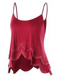 Rhinestone High Low Layered Cami Tank Top -