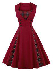 Vintage Plaid Pin Up Dress -