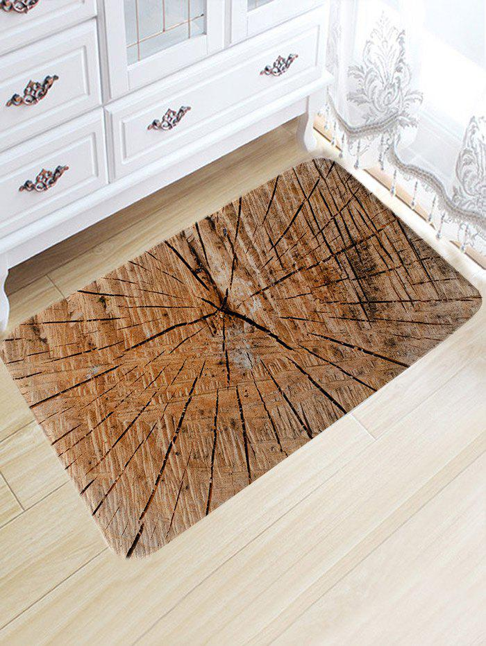 New Crack of Wood Print Flannel Nonslip Area Rug