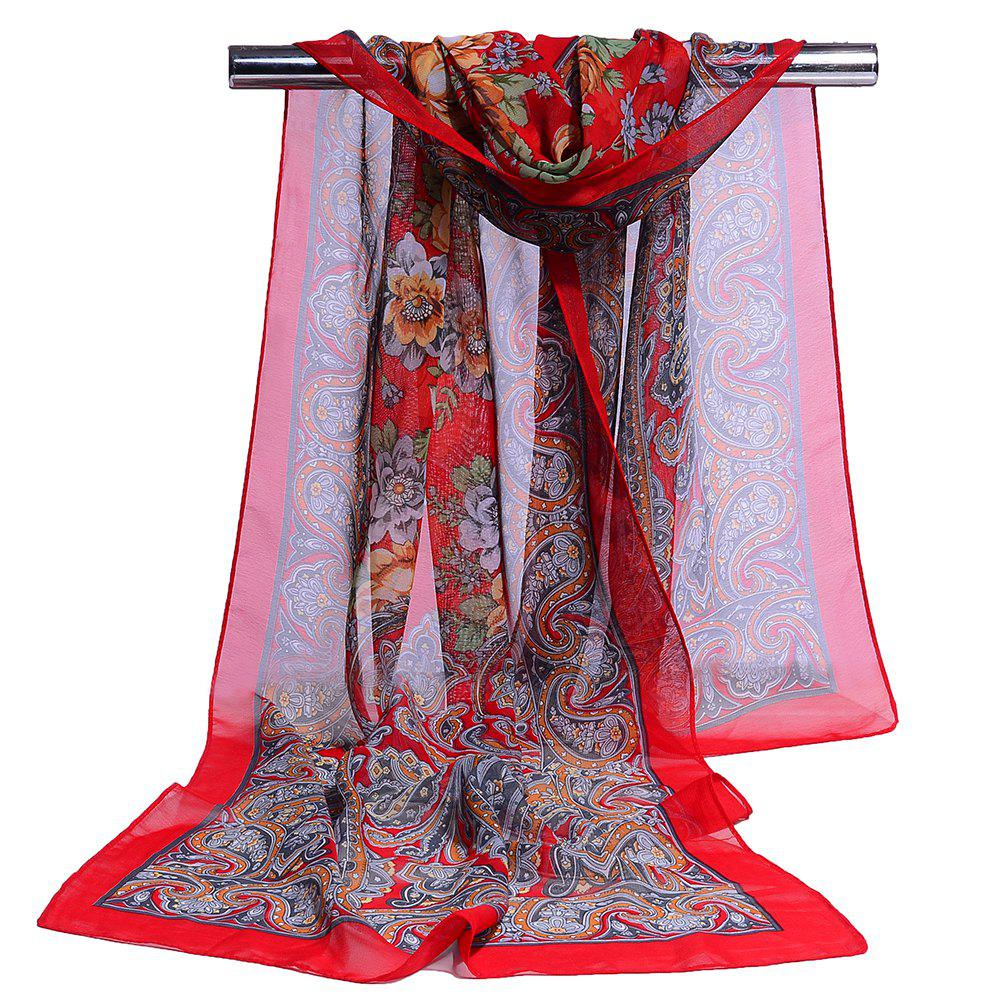 Buy Blossoming Floral Pattern Silky Spring Fall Scarf