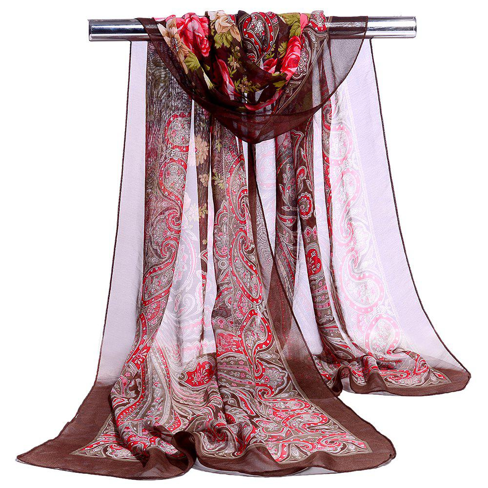New Blossoming Floral Pattern Silky Spring Fall Scarf