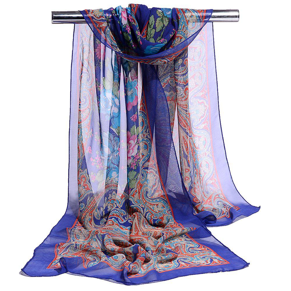 Discount Blossoming Floral Pattern Silky Spring Fall Scarf