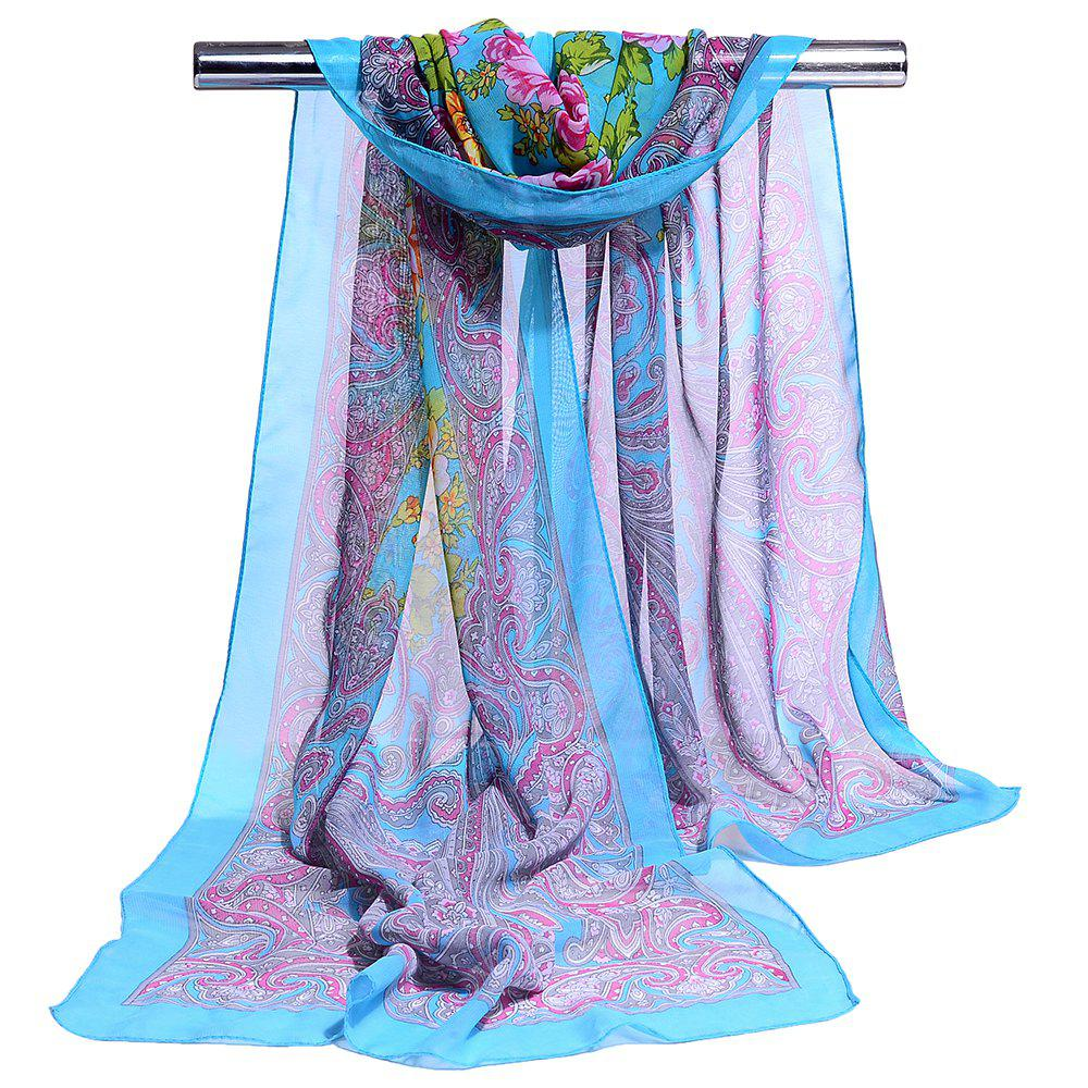 Cheap Blossoming Floral Pattern Silky Spring Fall Scarf