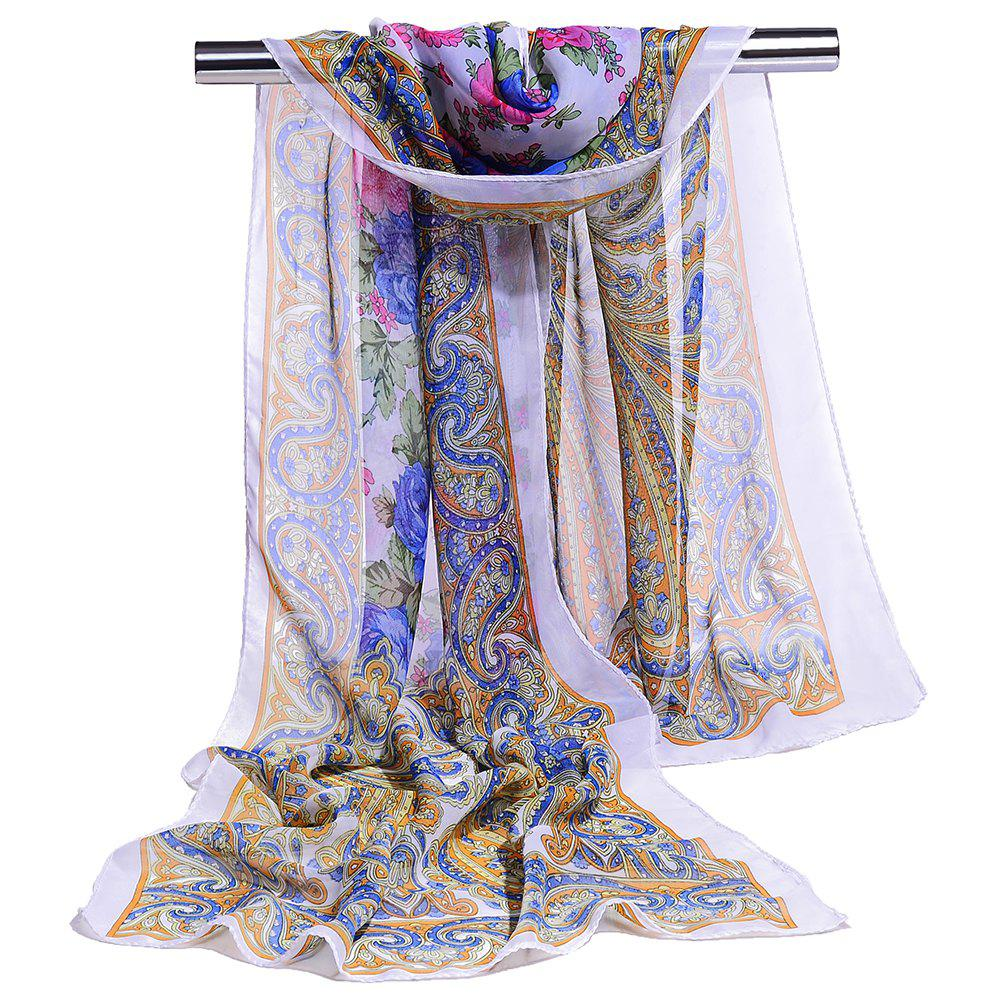 Affordable Blossoming Floral Pattern Silky Spring Fall Scarf