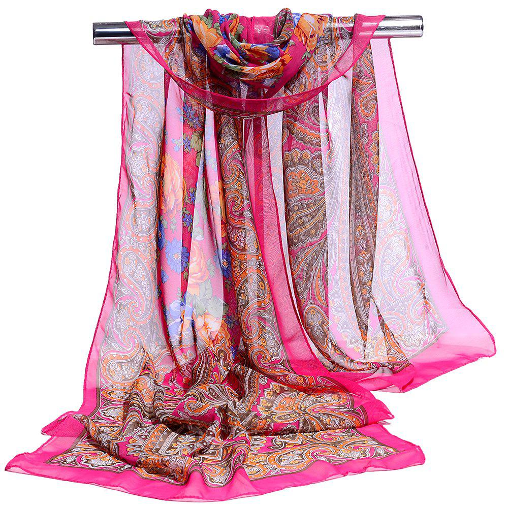 Chic Blossoming Floral Pattern Silky Spring Fall Scarf
