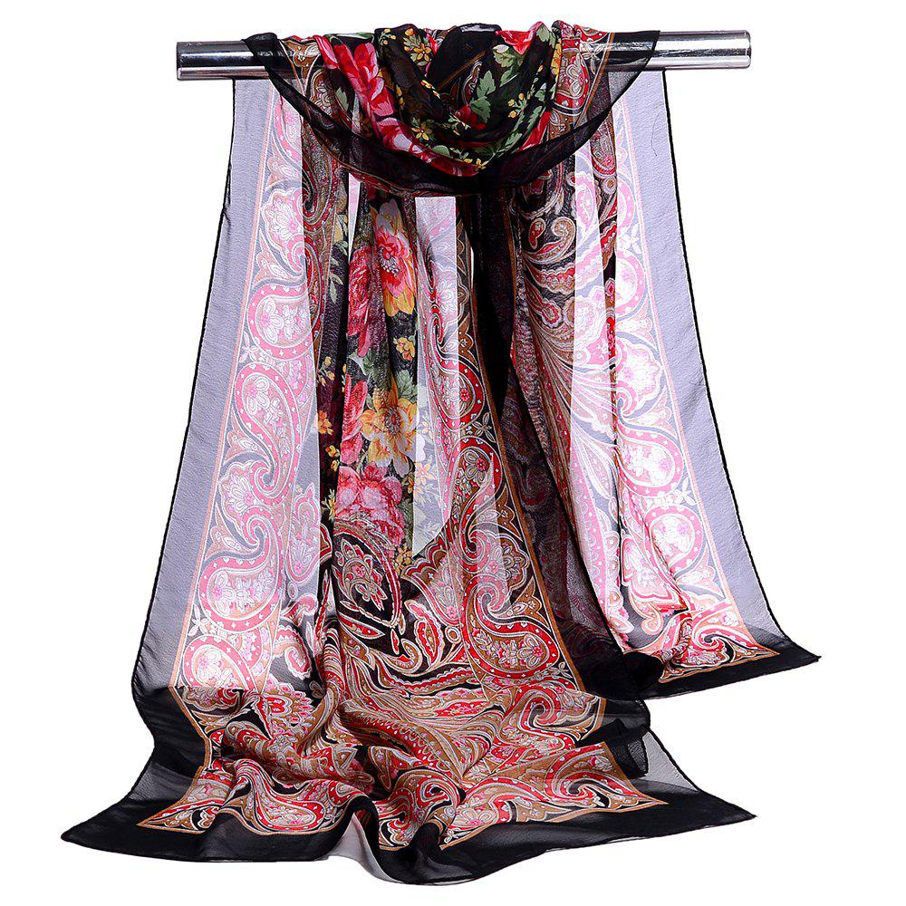Sale Blossoming Floral Pattern Silky Spring Fall Scarf