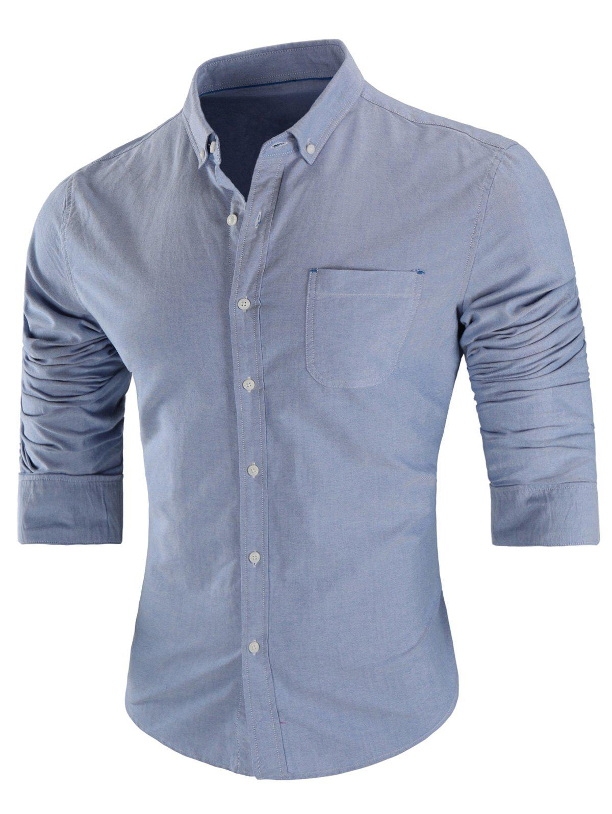 Affordable Chest Pocket Button Down Shirt
