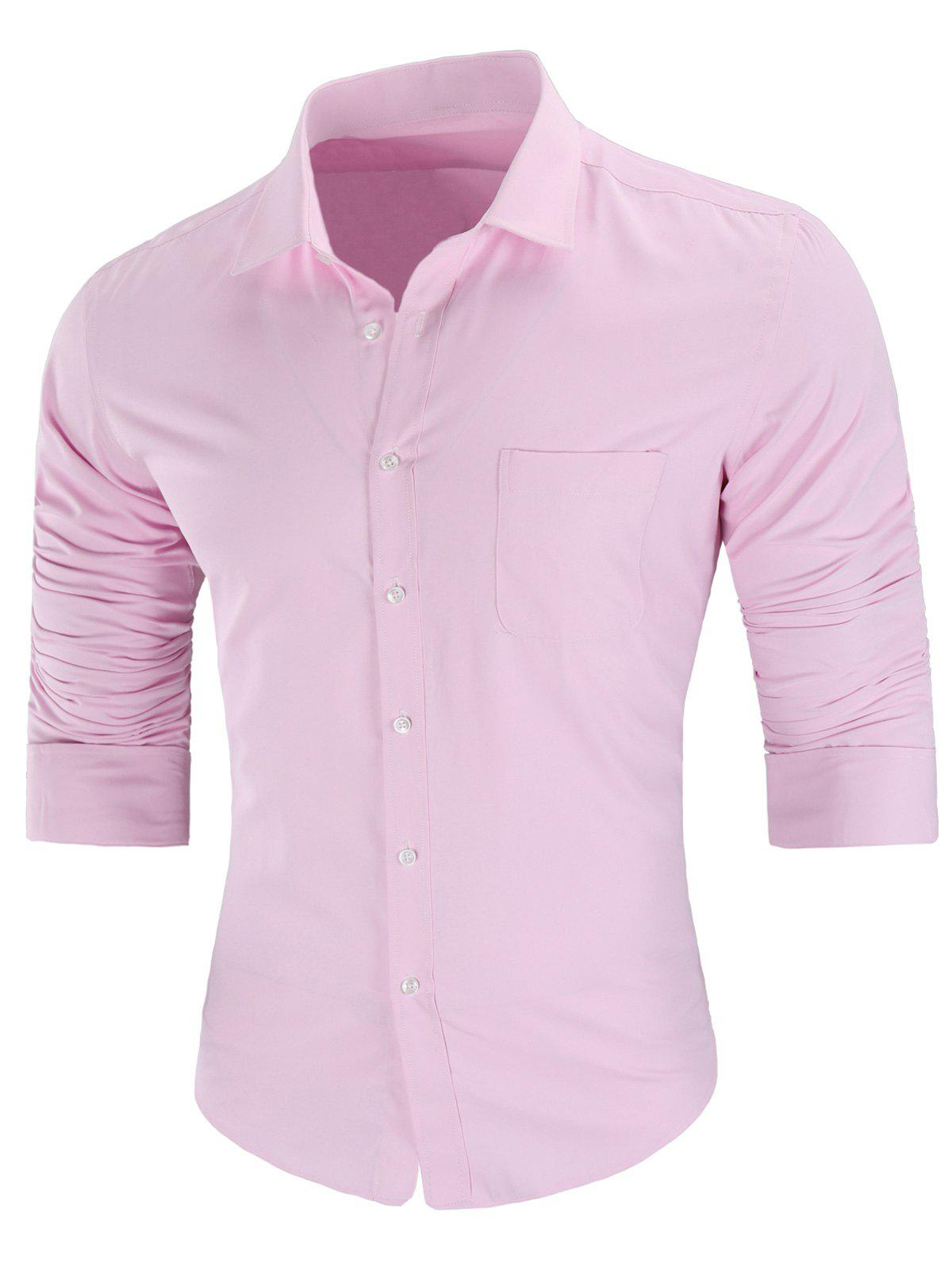 Chic Turn Down Collar Pocket Casual Shirt