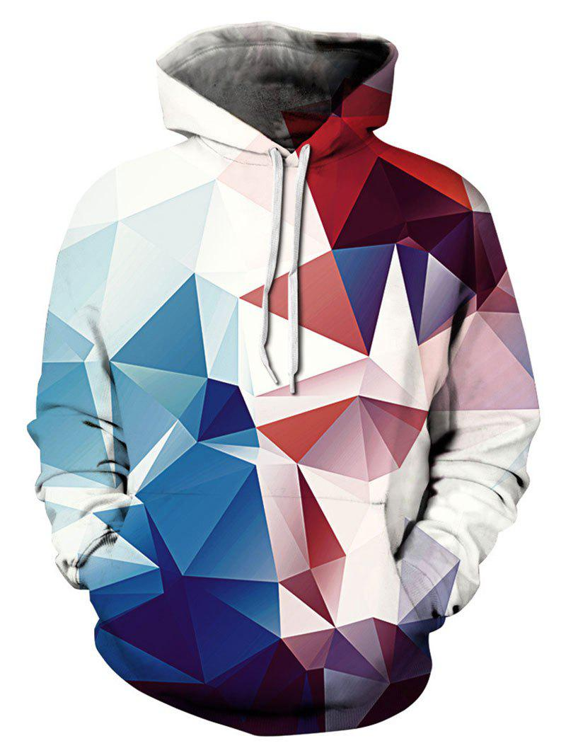 Outfit 3D Geometric Print Hoodie with Pocket