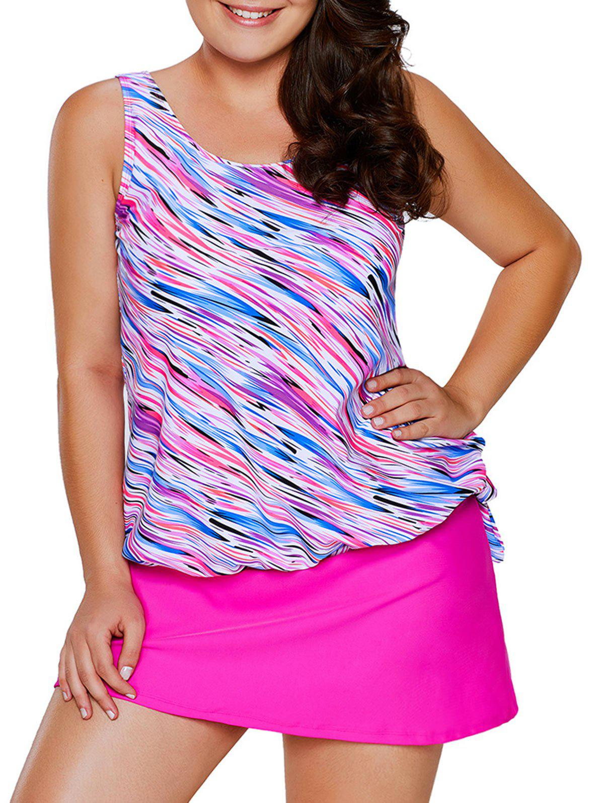 Latest Plus Size Modest Tankini Top and Skirt