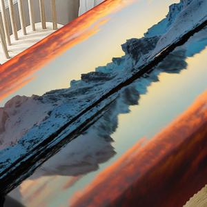 Sunset Mountain Print Waterproof Table Cloth -