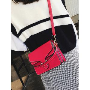 Metal Flap Stitching Crossbody Bag -