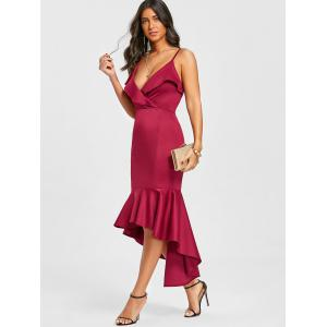 Flounce Cami Strap High Low Mermaid Dress -