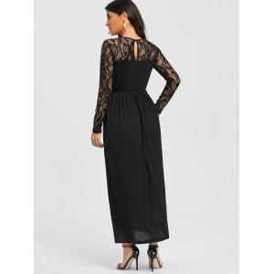 Lace Insert Maxi Dress -