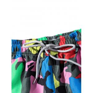 Colorful Camouflage Pattern Board Shorts -
