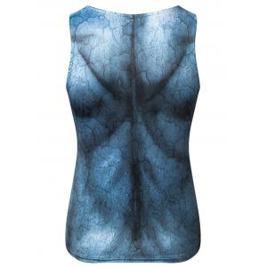 3D Muscle Print Stretchy Tank Top -