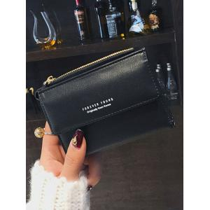Mini PU Leather Zipper Purse -