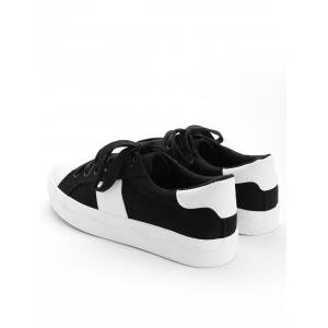Stitching Breathable Contrasting Color Trainers -