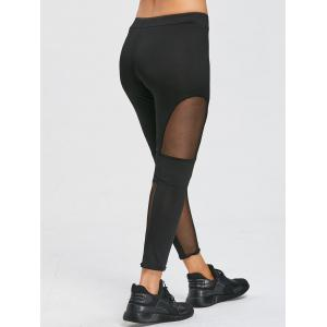 Leggings de sport à empiècements en maille transparente -
