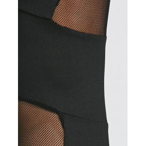 Sheer Mesh Panel Sports Leggings -