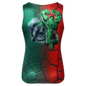3D Character Print Stretchy Tank Top -