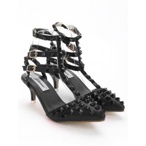 Pointed Toe Studded Sandals -