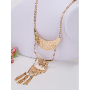 Alloy Teardrop Fringed Chain Necklace and Earring Set -