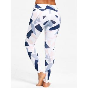 Colored Geometric Print Training Leggings -