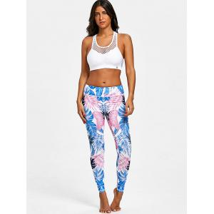Palm Leaf Print Active Leggings -