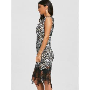 Skew Neck Lace Party Dress -