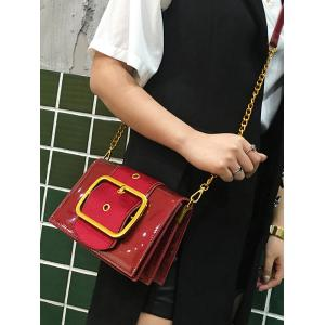 Minimalist Patent Leather Crossbody Bag -