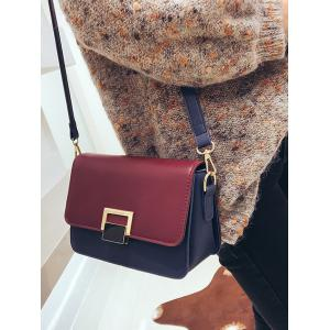 Flapped Buckled Crossbody Bag -
