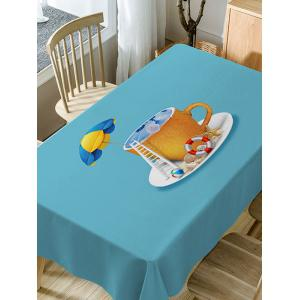 Sea In The Cup Pattern Waterproof Dining Table Cloth -