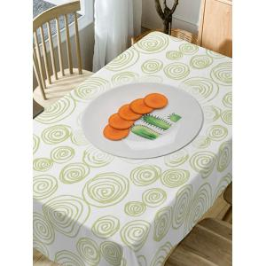 Carrot Coil Pattern Waterproof Dining Table Cloth -