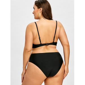 Flower Plus Size Cutout Backless One Piece Swimwear -