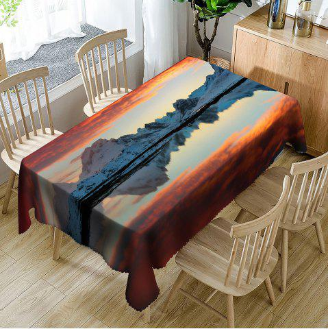 Latest Sunset Mountain Print Waterproof Table Cloth