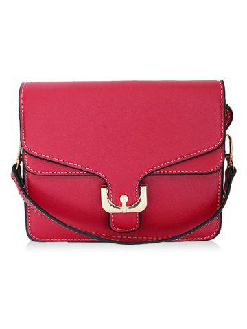 Online Metal Flap Stitching Crossbody Bag
