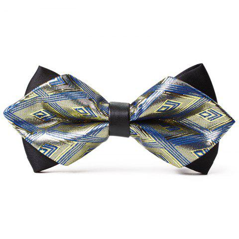Chic Rhombus Pattern Shiny Silky Bow Tie
