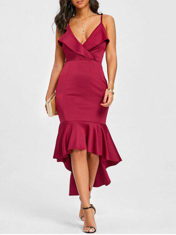 Shops Flounce Cami Strap High Low Mermaid Dress