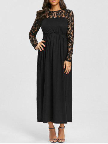 Chic Lace Insert Maxi Dress