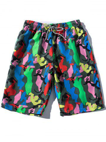 Discount Colorful Camouflage Pattern Board Shorts