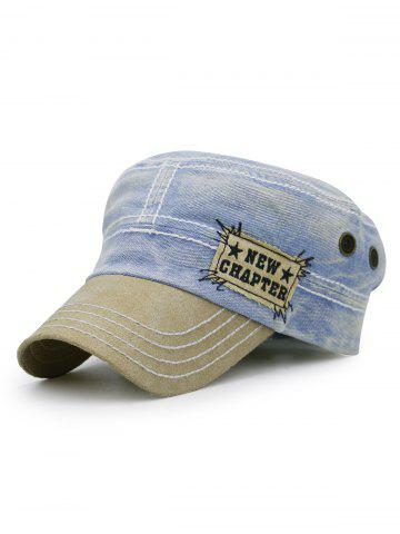 Fancy NEW CHAPTER Pattern Denim Flat Top Hat
