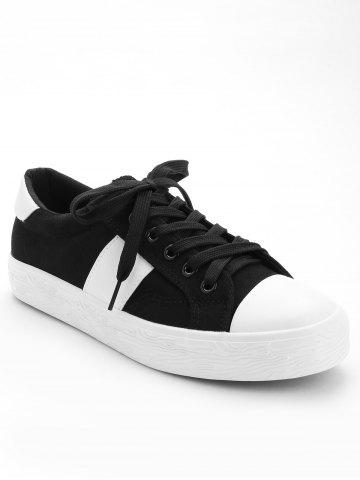 Store Stitching Breathable Contrasting Color Trainers